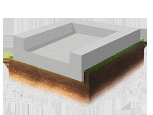 монолитная плита с цоколем