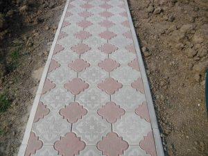 укладка тротуарной плитки гжель