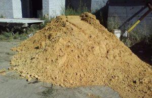 строительный песок для фундамента